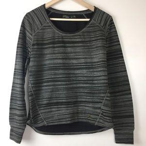Prana striped pullover fallbrook top sz M